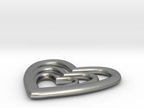 Tre Pendant in Natural Silver