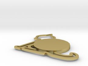 Cat Coaster in Natural Brass