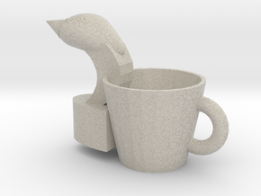 Swan hand put cup in Natural Sandstone