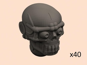 28mm robo skull heads x40 in Smoothest Fine Detail Plastic