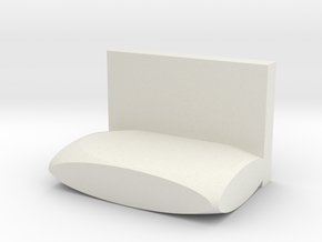 Miniature chair in White Natural Versatile Plastic: Medium