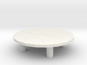 Miniature table in White Natural Versatile Plastic: Medium