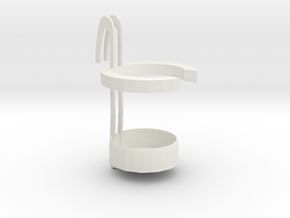 Simple type cup holder in White Natural Versatile Plastic: Small