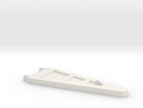 Zipper Tower in White Natural Versatile Plastic