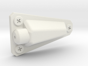 Jeep Wrangler CJ YJ Antenna mount (side) 1:10 BOLT in White Natural Versatile Plastic: 1:10
