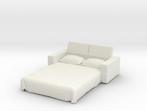 Sofa Bed 1/48 in White Natural Versatile Plastic