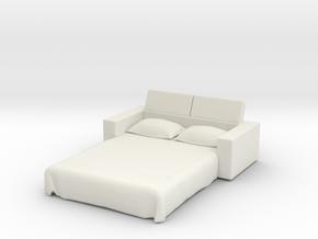 Sofa Bed 1/12 in White Natural Versatile Plastic