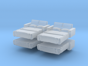 Sofa Bed (x4) 1/220 in Smooth Fine Detail Plastic