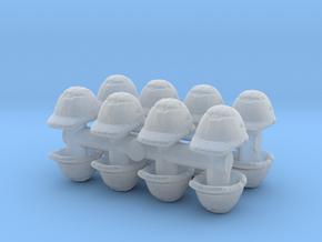 Safety Helmet (x16) 1/100 in Smooth Fine Detail Plastic
