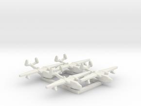 4pk Martin PBM5 Mariner seaplane bomber 1:1250 WW2 in White Natural Versatile Plastic