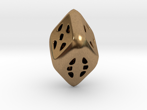 D6 Diamond in Natural Brass