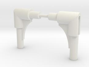 Battle Cruiser Part 33 in White Natural Versatile Plastic