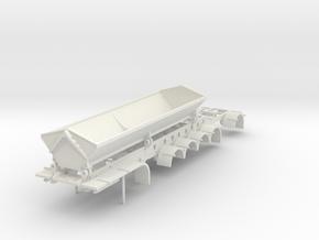 000679 4 a side dump A trailer in White Natural Versatile Plastic: 1:87 - HO