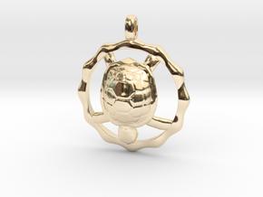 TURTLE TOTEM Jewelry Symbol Pendant in 14K Yellow Gold