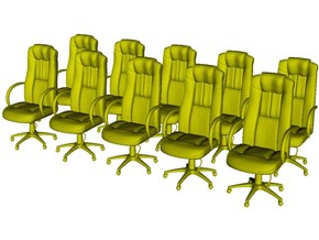 1/48 scale office chairs set A x 10 in Smooth Fine Detail Plastic