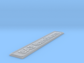 Nameplate SAS Isandlwana in Smoothest Fine Detail Plastic