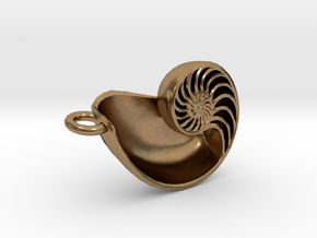 Nautilus Pendant (Small) in Natural Brass