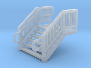 N Scale Steel Station Stairs 7.5mm in Smooth Fine Detail Plastic