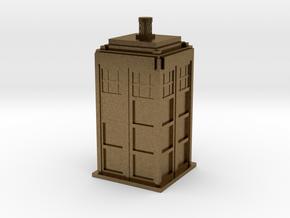 Police Box (TARDIS) in Natural Bronze