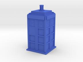 Police Box (TARDIS) in Blue Processed Versatile Plastic