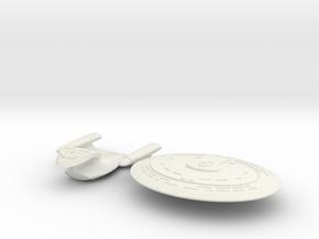 Enterprise D  Separable in White Natural Versatile Plastic