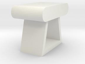 Stool in White Natural Versatile Plastic