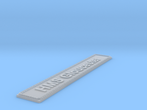 Nameplate HMS Gloucester in Smoothest Fine Detail Plastic