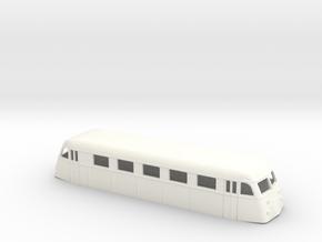 Swedish railcar Yo1s H0-scale in White Processed Versatile Plastic