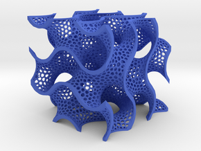 Gyroid in Blue Strong & Flexible Polished