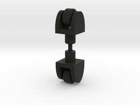 Lobstros Small Wheels in Black Natural Versatile Plastic