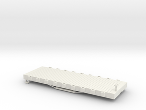 S USMRR FLATCAR 9 in White Natural Versatile Plastic