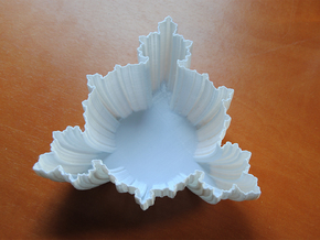 Fractal Bowl in White Natural Versatile Plastic