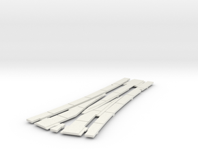 HO concrete street track small wye cover in White Natural Versatile Plastic