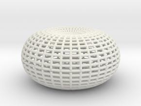 Horn Torus in White Natural Versatile Plastic