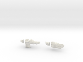 28mm steam powered weapons in White Strong & Flexible