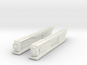 2500 Romulan warp engine pair in White Natural Versatile Plastic