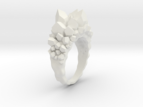 Crystal Ring in White Natural Versatile Plastic: 2 / 41.5