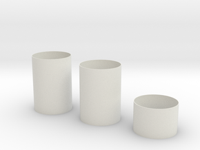 1:72 S-1C S-II Smooth Sections for Dragon Thin in White Natural Versatile Plastic