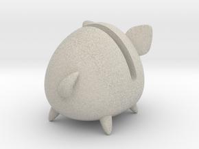 Micro Piggy Bank (Small) in Natural Sandstone