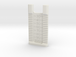 knitted watch band jig in White Natural Versatile Plastic