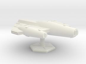 7000 Scale ISC Battleship (BB) SRZ in White Natural Versatile Plastic