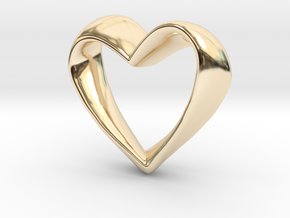 Twisted Heart in 14K Yellow Gold