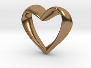 Twisted Heart in Natural Brass