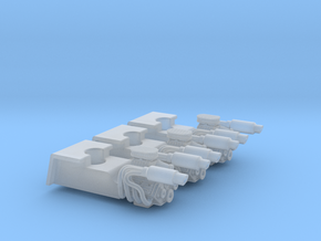 Set of 3 - Volkswagen Baja Bug V8 engines Only in Smooth Fine Detail Plastic
