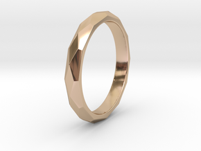 36 Facet Stacker Ring in 14k Rose Gold Plated Brass: 8 / 56.75