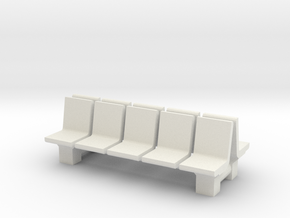Platform Seats (x2) 1/56 in White Natural Versatile Plastic
