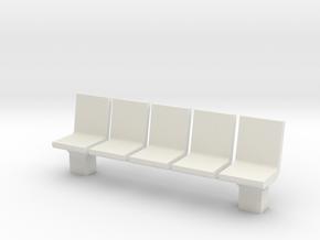 Platform Seats 1/24 in White Natural Versatile Plastic