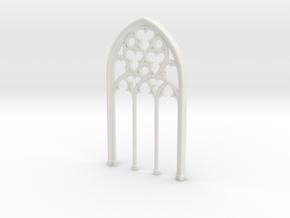 Gothic Window in White Natural Versatile Plastic