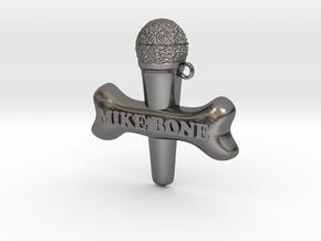 MIKE BONE Pendant in Polished Nickel Steel