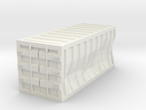 Damaged 20ft Container 1/160 in White Natural Versatile Plastic
